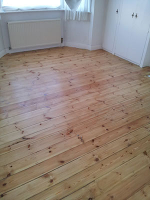 Wood is now varnished, to enhance and protect the wood floor surface.