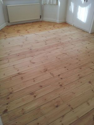 Floor sanded, revealing the natural beauty of the wood