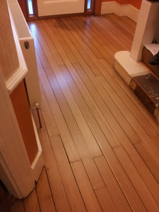 Hallway sanded and revarnished