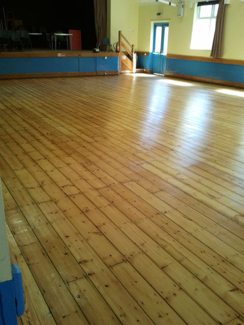 Sanding wooden school halls and gym floors are a specialty of ours.