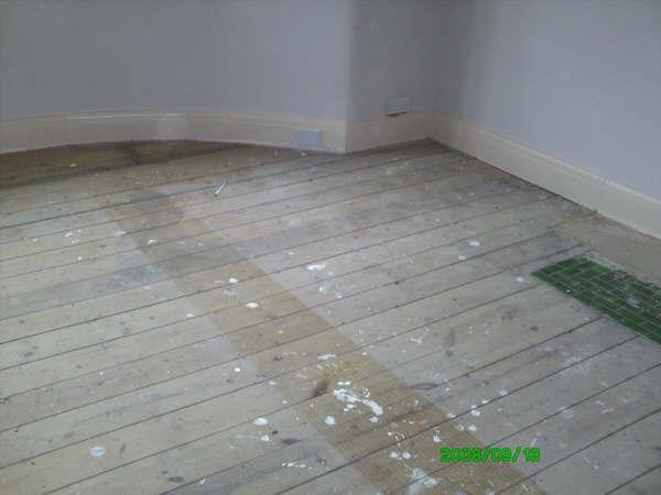 Floor sanding - before