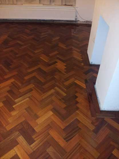 Parquet floor repair, sanding and restoration