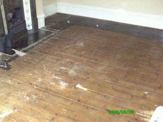 Floor warn - before it is sanded